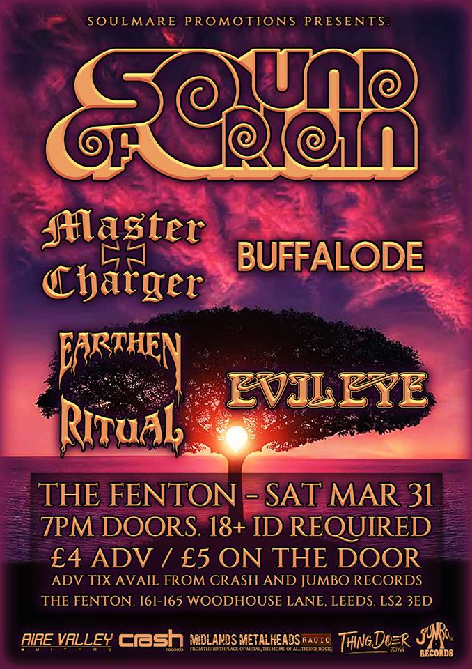 Sound Of Origin Master Charger Buffalode Earthen Ritual Evil Eye Live at The Fenton Leeds 00, Mar 31