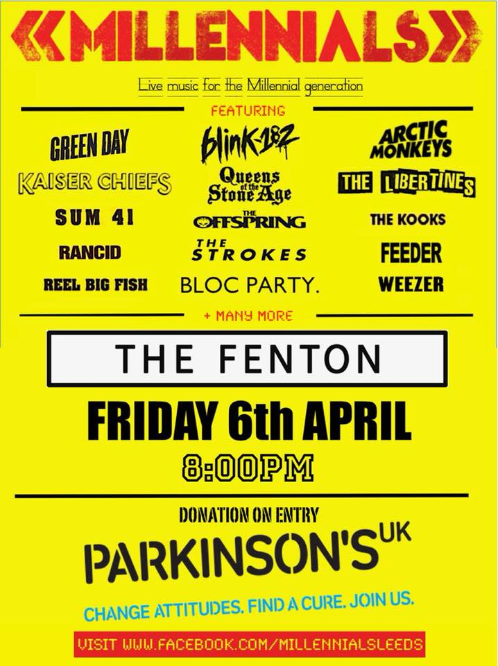 Millennials @ The Fenton for Parkinson's UK Live at The Fenton Leeds 00, Apr 6