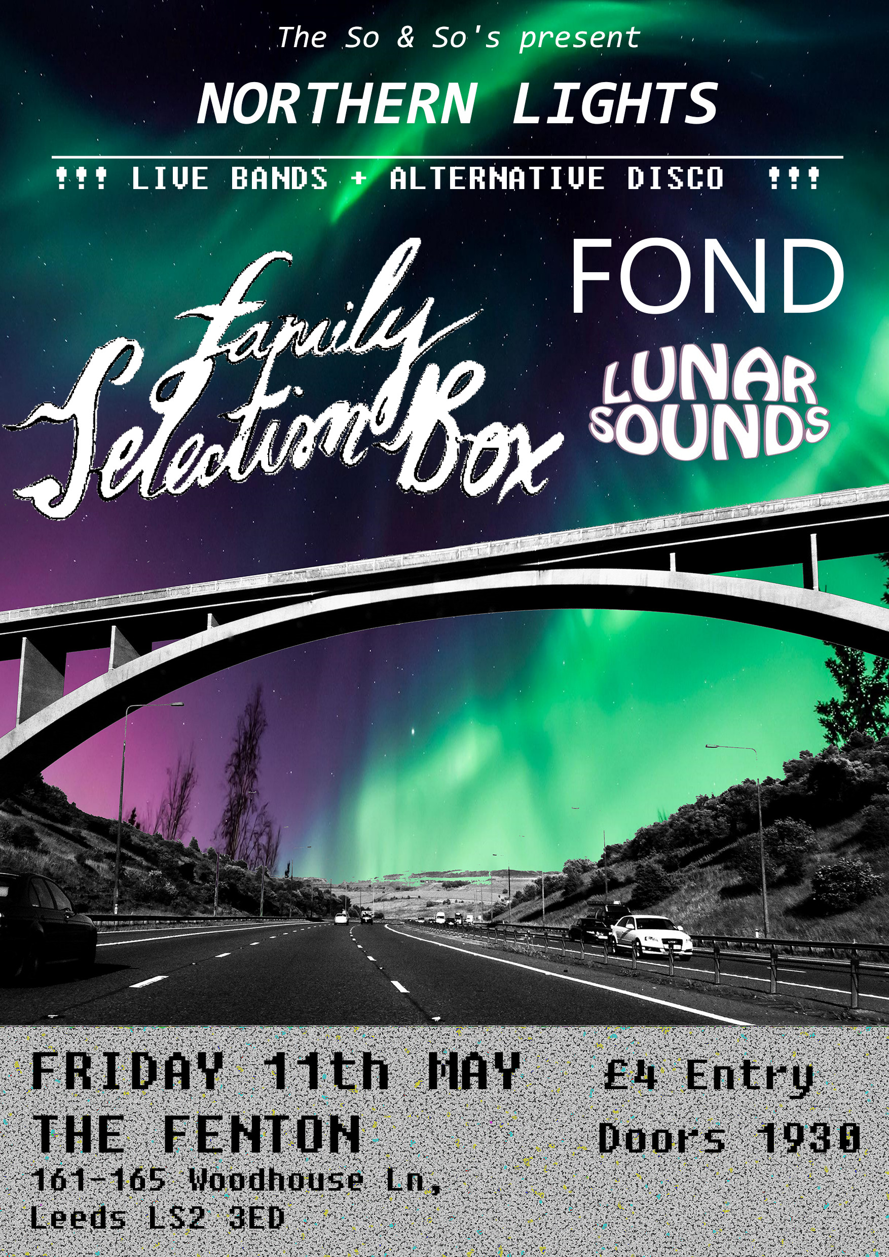 Northern Lights with Family Selection Box / Fond / Lunar Sounds Live at The Fenton Leeds 00, May 11